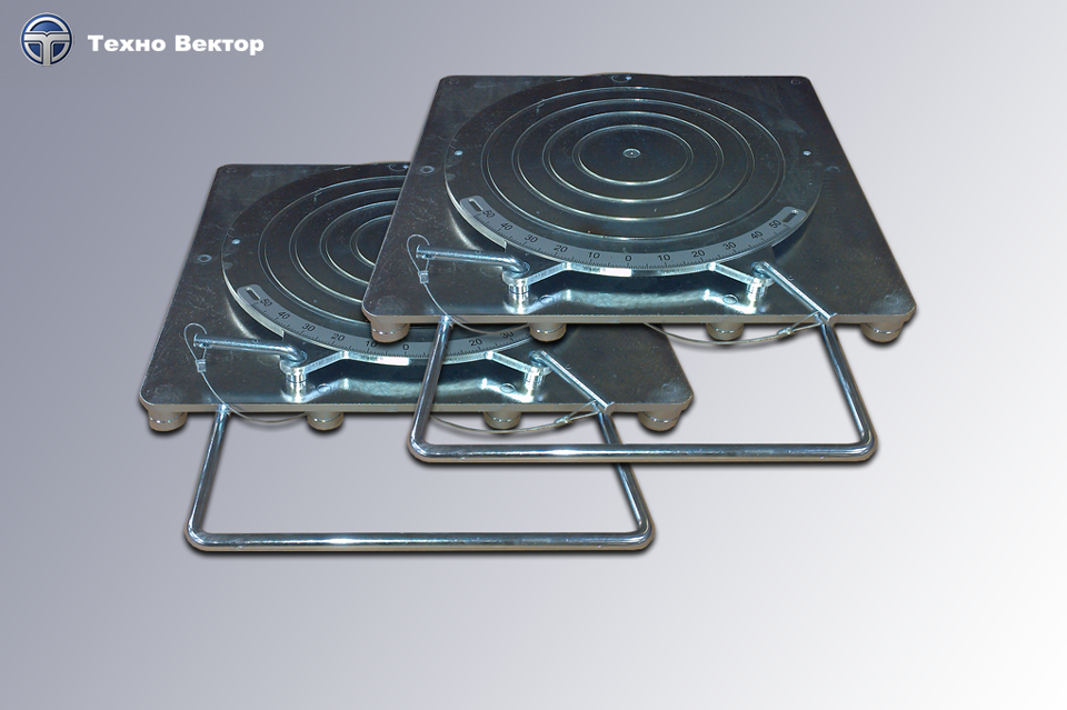 Front Turnplates without Scales (for 3D wheel alignment systems).